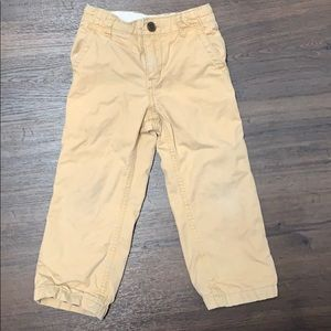 Babygap boys flannel lined khaki pants 3t 3 warm